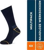 Stapp Yellow - Worker 4415.499 6-Pack - marine Multipack Unisex Sokken 47-50