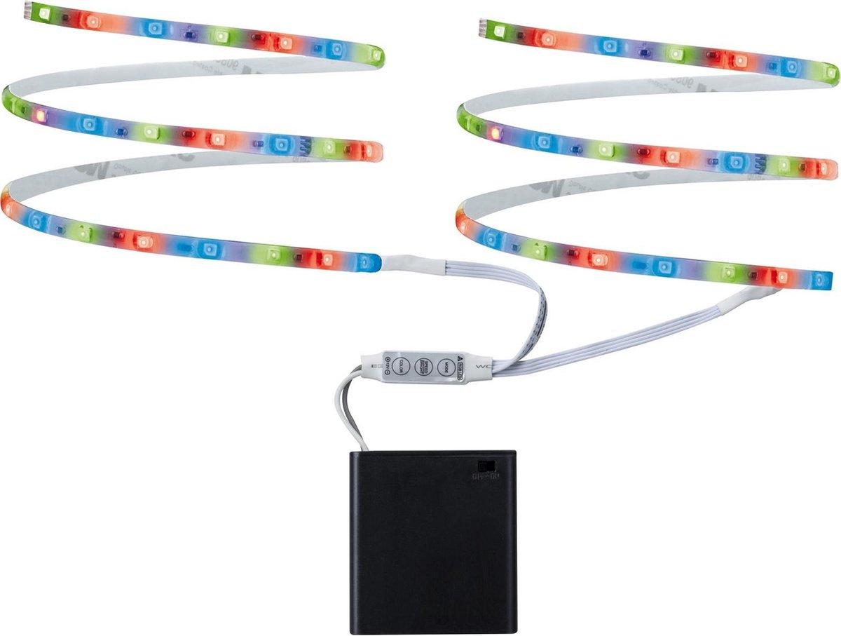 2 Stuks Function Mobil Stripe 2x80cm RGB 1,2W 9V 4xAA wit metaal/kunststof 70700