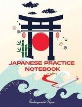 Japanese Practice Notebook: Genkouyoushi Paper