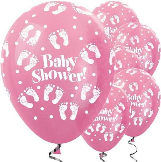 Ballonnen Parel Lichtroze 'Babyshower' - 5 stuks