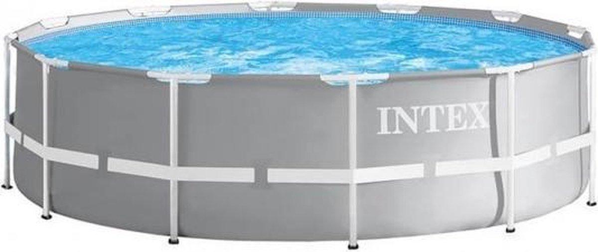 opzetzwembad met pomp 26712GN Prism 366 x 76 cm grijs