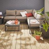 Alice's Garden Hoekloungeset STRATUM -  aluminium - 5 zitplaatsen - antraciet/taupe