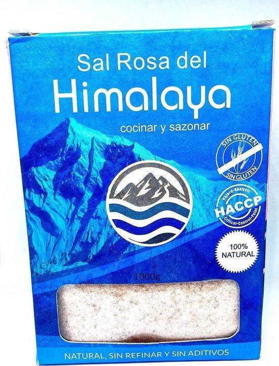 Himalaya Zout - Roze - fijn -Sal Rosa del Himalaya - natuurlijk 100% ongeraffineerd