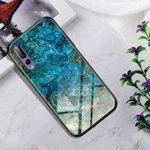 Schokbestendig gehard glas + TPU Case voor Huawei P20 Pro (Emerald)