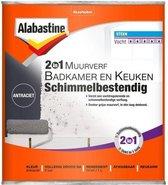 Alabastine 2 In 1 Badkamer en Keuken Muurverf - Wit - 1 liter
