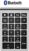 Draadloze Numpad - Draadloos Numeriek Toetsenbord - 22 toetsen - Bluetooth - Zilver