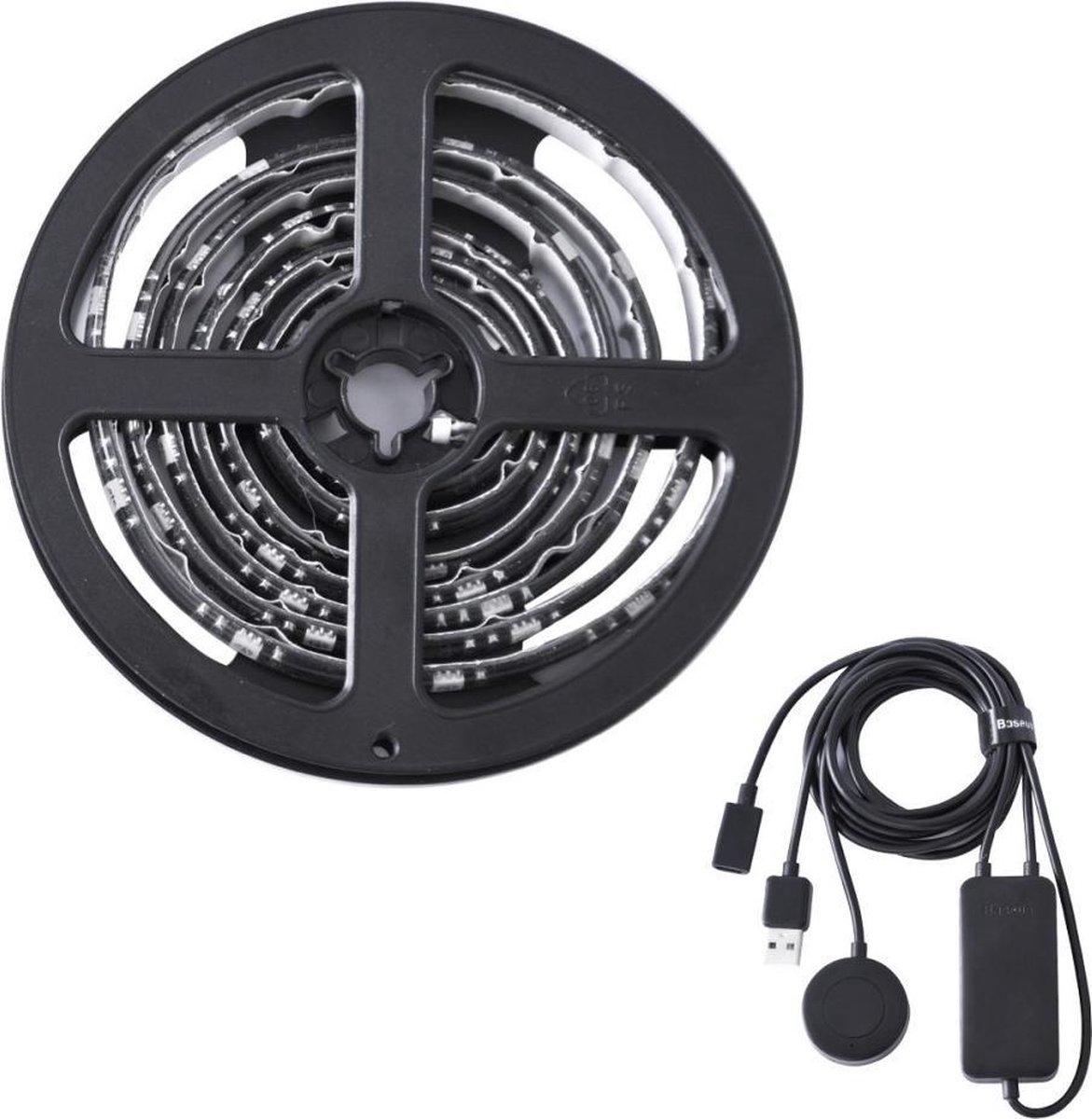Baseus USB LED Strip voor op de gamekamer - RGB - 150cm - zwart