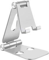 Telefoonhouder Bureau Telefoonstandaard Aluminium Telefoon Standaard - Telefoon Tablet Houder Telefoonstandaard Bureau - Zilver