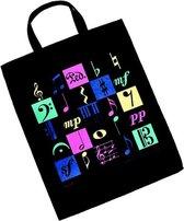 XL Boodschappentas Muziekmotieven