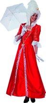 Markiezin taft jurk middeleeuwen rood Maat 40