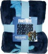 Fortnite Plain Deken - 100x150 cm - Polyester - Blauw