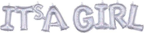 Amscan Ballon It's A Girl 110 Cm Folie Zilver Holografisch 2-delig