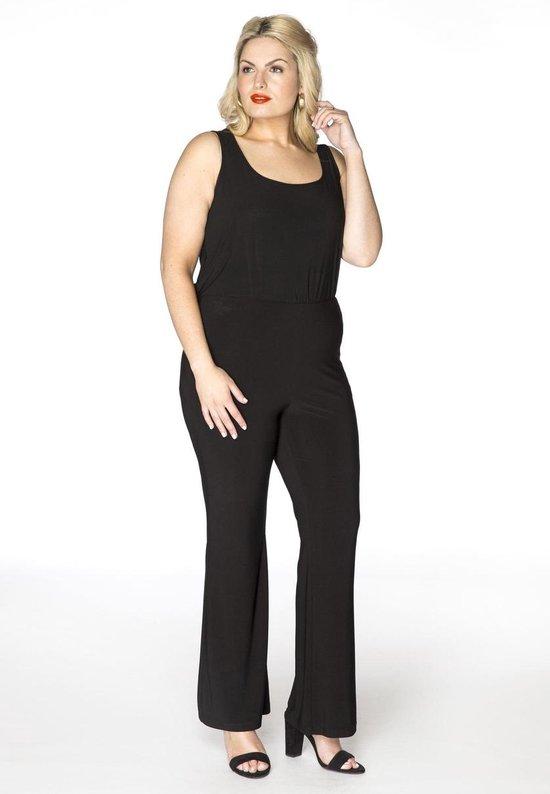 Yoek | Grote maten - dames bootcut pantalon - zwart
