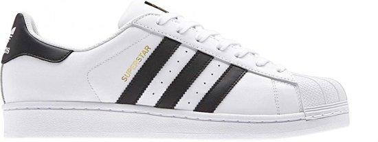 adidas Superstar Heren Sneakers - Ftwr White/Core Black - Maat 44
