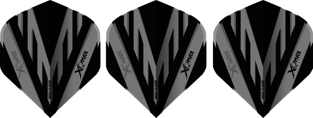 Xq Max Flights Pvc A-standaard 100 Micron Grijs/zwart 3 Stuks