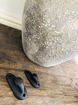 Kolony, Ophanghaak , dubbel, zwart, steekt 3 cm naar voren.