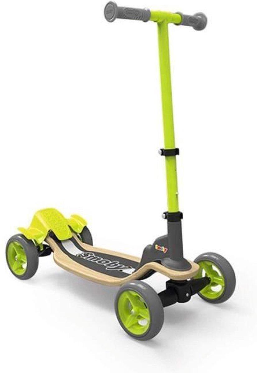 SMOBY 4 wielen houten skate - verstelbaar stuur - opvouwbaar
