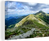 Groene bergen het Nationaal park Slowaaks Paradijs Canvas 180x120 cm - Foto print op Canvas schilderij (Wanddecoratie woonkamer / slaapkamer) XXL / Groot formaat!