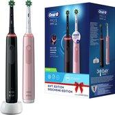 Oral-B Pro 3 - 3900 - Zwarte en Roze - Elektrische Tandenborstel