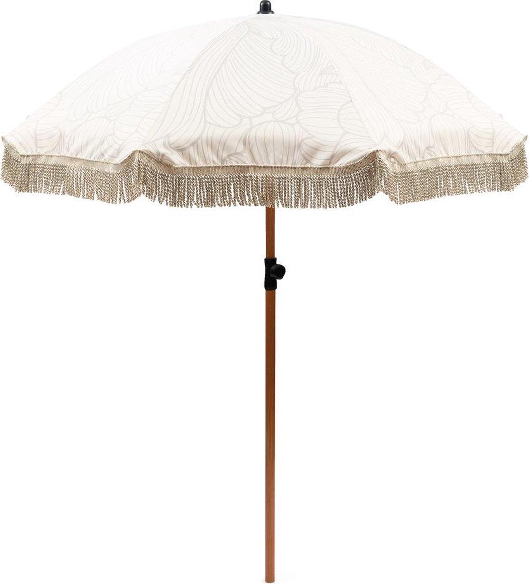 Rivi ra Maison Orangery Floral Parasol - 180 cm - Naturel