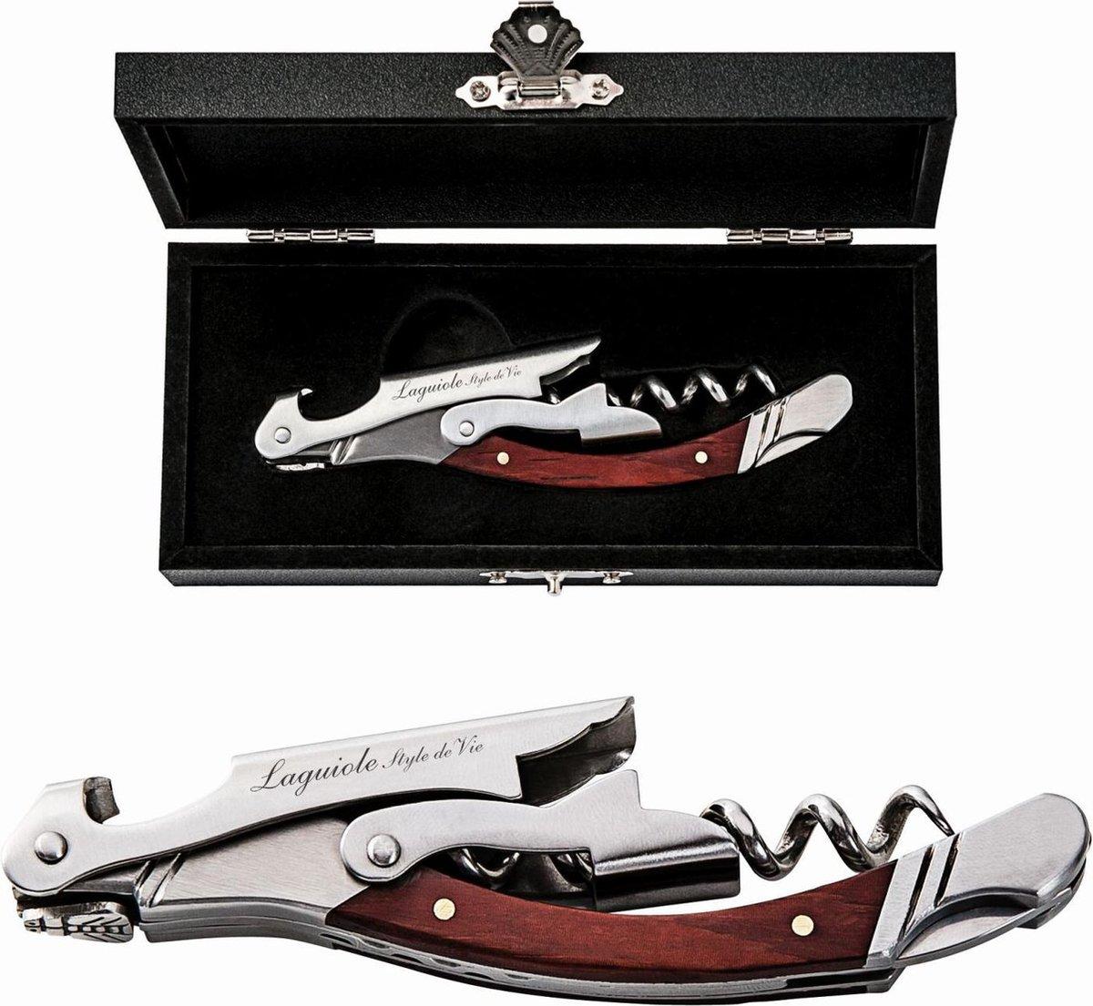 Laguiole Style de Vie Kurkentrekker - in giftbox - Rozenhout