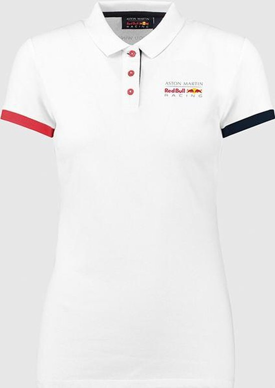 Red Bull Racing - Max Verstappen - Dames Classic Polo Wit - Maat S