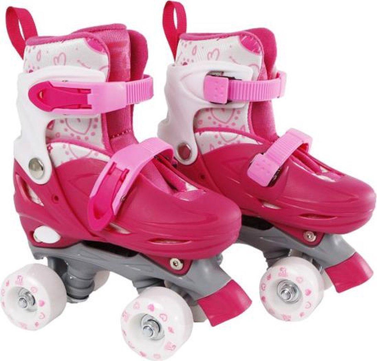 Rolschaatsen Street Rider roze/grijs maat 27-30