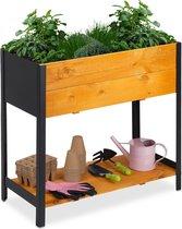relaxdays moestuinbak op poten - moestuintafel hout  - kruidenbak - kweektafel - tuin