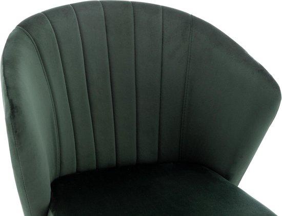 Eetkamerstoel Mexion - Hunter Velvet Groen - Metaalpoot - Fluweel
