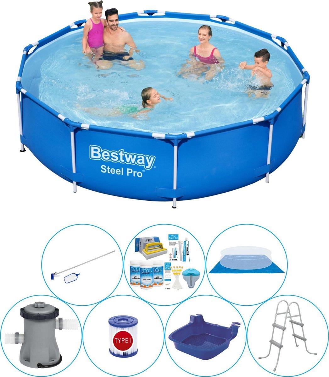 Bestway Steel Pro Rond 305x76 cm - 8-delig - Zwembad Inclusief Accessoires
