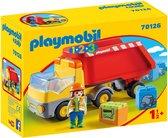 PLAYMOBIL 1.2.3 Kiepwagen - 70126