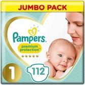 Pampers Premium Protection - Maat 1 - Jumbo Pack - 112 luiers