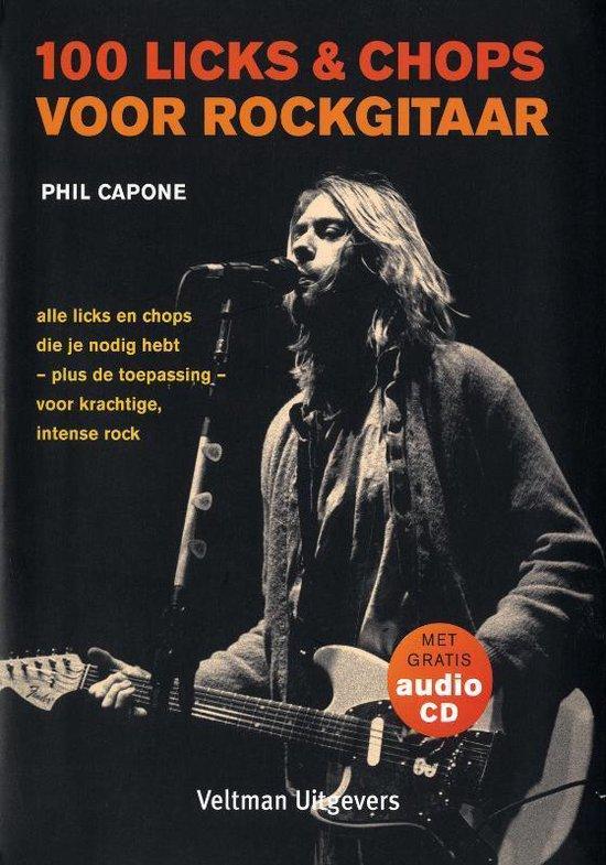 Cover van het boek '100 licks & chops voor rockgitaar + CD-ROM' van P. Capone