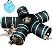 5-weg kattentunnel, Collapsible Pet Play Tunnel Interactive Tube voor katten, puppie's, kittens,  konijnen