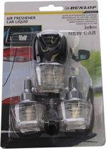 """Dunlop Luchtverfrisser """"nieuwe Auto"""" 3 X 8 Ml Zwart/transparant"""