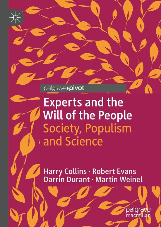 Boek cover Experts and the Will of the People van Harry Collins (Onbekend)