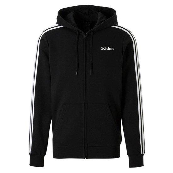   adidas Essential 3 Stripes Fleece vest heren zwartwit