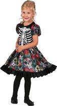 BOLAND BV - Veelkleurige Dia de los Muertos jurk voor meisjes - 92/98 (3-4 jaar) - Kinderkostuums