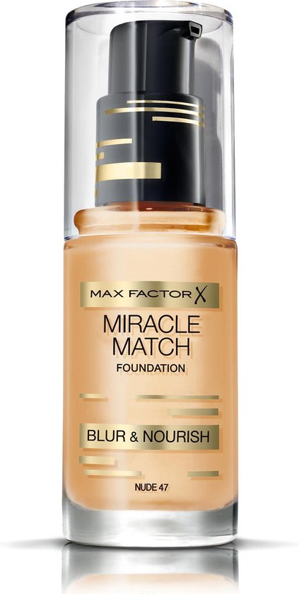 Max Factor Miracle Match Blur & Nour Foundation - 47 Nude