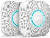Google Nest Protect - Slimme rook- en koolmonoxidemelder - Met batterij - 2 stuks