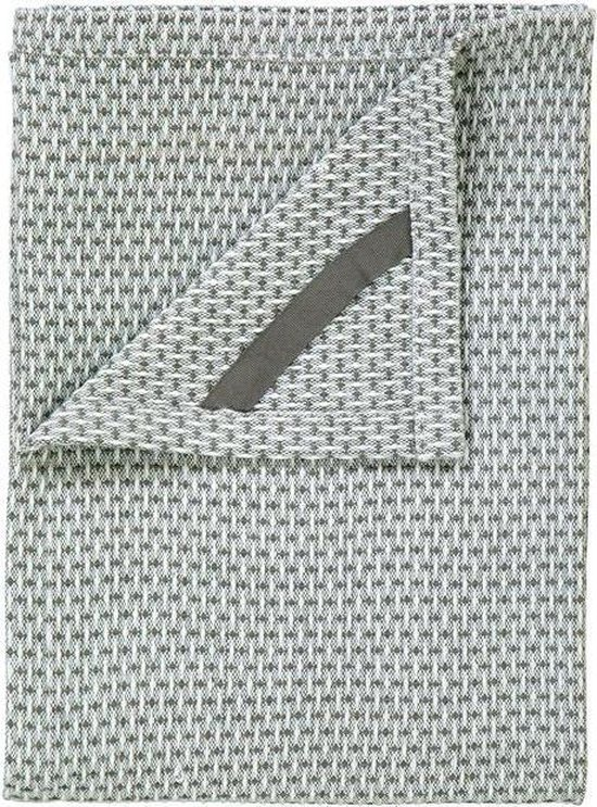 Blomus - Set 2 Tea Towels Lily White/Agave Green RIDGE