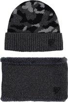 Bellaire Jongens winter accessoires Bellaire Lucas scarf+beany set navy L