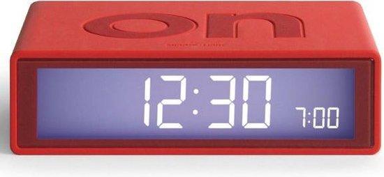 Lexon Flip LR-150 Digitale Wekker rood - on off