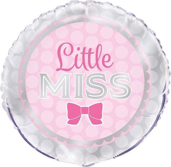 Folieballon 'Little Miss' Lichtroze - 45 Centimeter