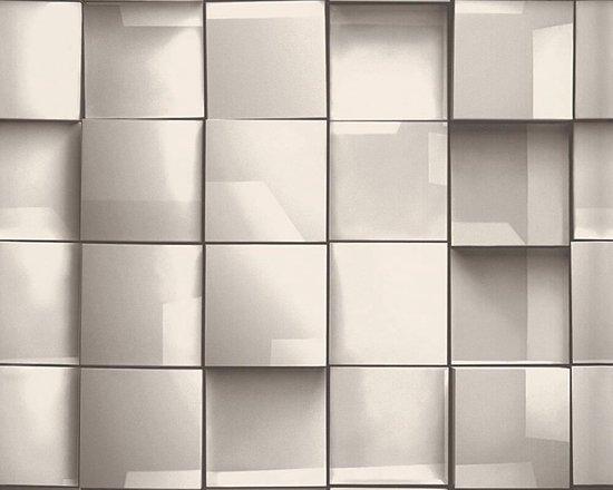 Nieuw bol.com | GRAFISCH 3D BEHANG - Grijs Zwart Wit - AS Creation Move UH-07