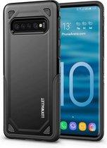 LUXWALLET® Samsung Galaxy S10 PLUS Case - Desert Armor Drop Proof Hoes - Nightfall Black