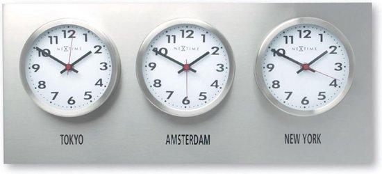 NeXtime Wall plate (excl. clocks) - Wandplaat - RVS - 57x25cm