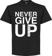 Never Give Up Liverpool T-shirt - Zwart