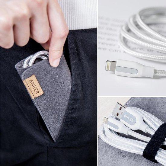 Anker USB - Lightning, 90cm mobiele telefoonkabel USB A Wit 0,9 m - Anker