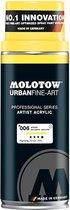 Molotow Urban Fine Art Acryl Spray: Zink Geel - 400ml spuitbus voor canvas, plastic, metaal, hout etc.